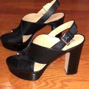 Michael Kors Size 8 Black Platform Heels 👠